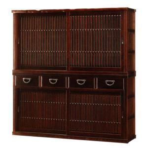 水屋 和風 食器棚 引き戸 食器戸棚 無垢 ダイニングボード 国産 日本製|interior-bagus