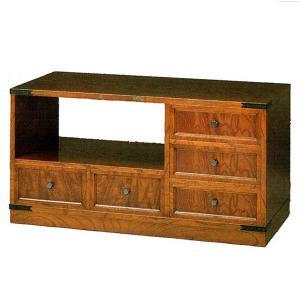 テレビ台 和風 ローボード 幅90cm テレビボード 木製 TV台 完成品 TVボード 欅|interior-bagus