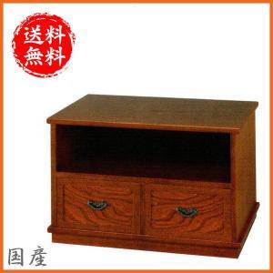 テレビ台 和風 ローボード 幅60cm TV台 木製 テレビボード 完成品 TVボード 欅 キャスター付き|interior-bagus