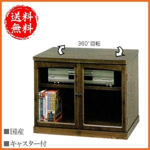 テレビ台 回転式 ローボード 幅60cm テレビボード 木製 TV台 和風 TVボード キャスター付き|interior-bagus