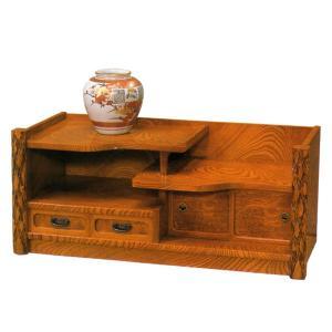 置床 和風 置き床 欅 サイドボード 飾り台 飾台 飾り棚 飾棚 interior-bagus