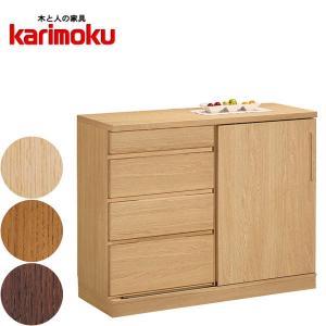 カリモク サイドボード おしゃれ リビングボード 北欧 キャビネット ナチュラル チェスト 木製|interior-bagus