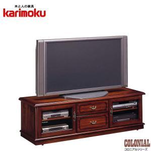 カリモク テレビボード アンティーク調 テレビ台 ローボード 完成品|interior-bagus