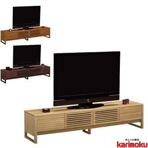 カリモク テレビボード 北欧 TVボード ローボード テレビ台 扉付 TV台 モダン interior-bagus