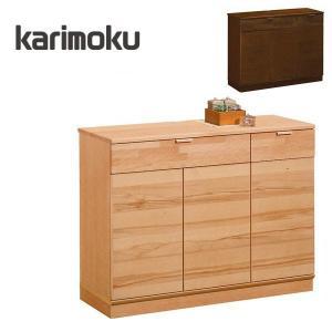 カリモク家具のおしゃれなキャビネット!【サイズ】■本体:W1049×D396×H816mm■棚板:W...