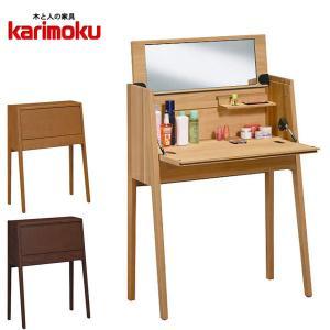 カリモク ドレッサー デスク 鏡台 北欧 化粧台 おしゃれ|interior-bagus