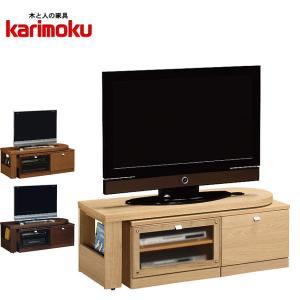 カリモク テレビボード ロータイプ テレビ台 北欧 ローボード 回転式 TVボード シンプル TV台 完成品|interior-bagus