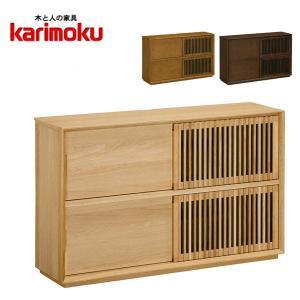 カリモク サイドボード おしゃれ リビングボード 北欧 キャビネット ナチュラル 木製|interior-bagus