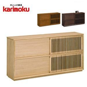 カリモク サイドボード 北欧 リビングボード おしゃれ キャビネット 木製 ナチュラル|interior-bagus