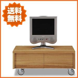 テレビ台 北欧 ローボード 木製 TV台 無垢 テレビボード キャスター付き|interior-bagus