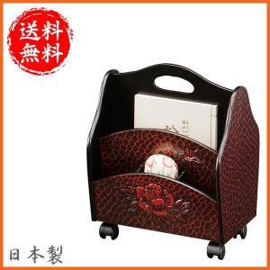 鎌倉彫 マガジンラック 木製 マガジンタンド キャスター付き ブックスタンド 和風 本立て 日本製 国産|interior-bagus