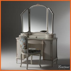 ドレッサー 三面鏡 鏡台 ドレッサー アンティーク調|interior-bagus