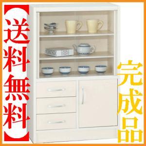 ミニ食器棚 コンパクト 食器棚 60 キッチンボード 完成品|interior-bagus