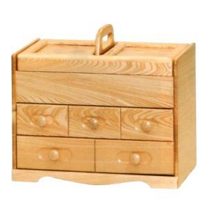 ソーイングボックス おしゃれ 裁縫箱 木製 針箱 日本製 裁縫道具入れ 国産の写真