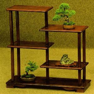 盆栽棚 飾り棚 飾棚 飾り台 飾台 シェルフ 和風 日本製 国産|interior-bagus