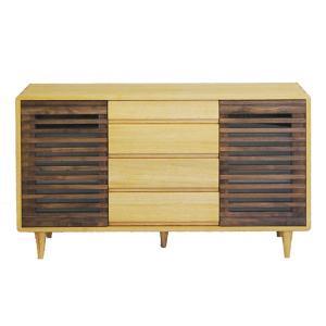 サイドボード ウォールナット リビングボード 北欧 キャビネット 木製 無垢|interior-bagus