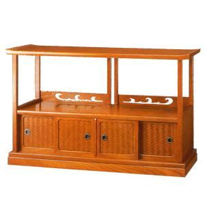 置床 置き床 和風 サイドボード 欅 リビングボード 完成品 日本製 国産 interior-bagus