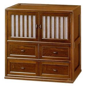 テレビラック 和風 テレビ台 木製 TVボード 無垢 チェスト 完成品 日本製 国産|interior-bagus