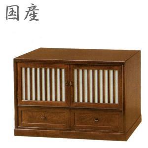 和風 テレビ台 扉付 ローボード TV台 ローボード 無垢材 テレビボード 木製 TVボード 完成品|interior-bagus