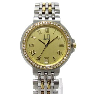 dunhill エリート メンズ腕時計 2ロウ ダイヤベゼル...