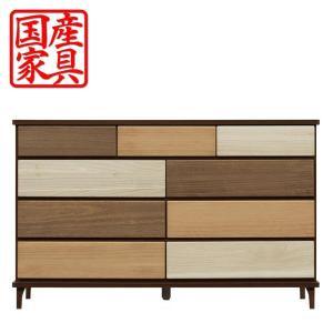 タンス チェスト ローチェスト 幅140 木製 衣類収納 整理たんす 箪笥 収納家具 激安 interior-daiki