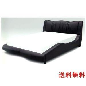 ベッド ワイドダブルベッド ベット 木製 合皮 黒 シンプル モダン 木製|interior-daiki