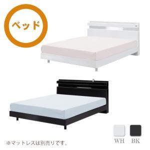 ベッド ダブルベッド ベット 木製 ホワイト ブラック 鏡面 シンプル モダン 木製|interior-daiki