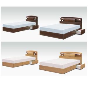 ベッド セミダブルベッド ベット 収納付きベット 木製 ブラウン ナチュラル 北欧 シンプル モダン 木製 組立|interior-daiki