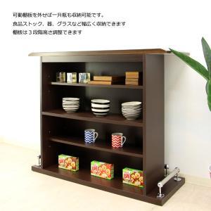 バーカウンター バーカウンター テーブル 幅120 ホームバー ハイカウンター 完成品 日本製 キッチン収納 激安カウンター|interior-daiki|02