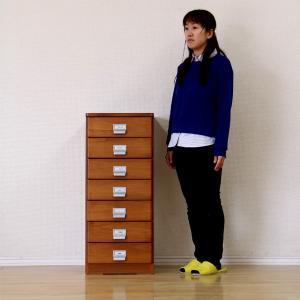 すきま収納 スリム収納 すきま家具 40幅 40cm 隙間収納 隙間家具 完成品 木製 引き出し7段 デザイン重視 センチ インテリア|interior-daiki
