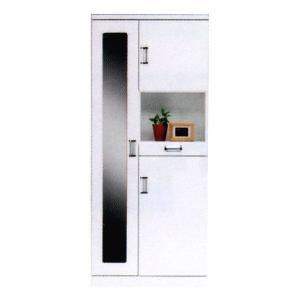 シューズBOX 下駄箱 靴箱 靴入 シューズボックス 幅75 スリッパラック 完成品 鏡付 靴収納 玄関収納|interior-daiki