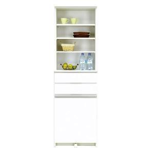 ダストボックス カウンター ダスト キッチン収納棚 ゴミ箱 ごみ箱 2分別 30リットル 30 ふた付き 幅56cm 奥行45cm 高さ180cm|interior-daiki