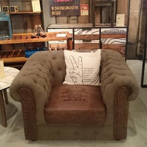 ソファ ソファー sofa 1人掛け 布 ファブリック ビンテージ 1P 北欧風 モダン リビング 合皮 応接室 完成品 高級 interior-daiki