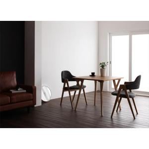 ダイニングテーブル ダイニングセット ダイニングテーブルセット 2人掛け 3点セット 木製 デザイナーズ 無垢材|interior-daiki