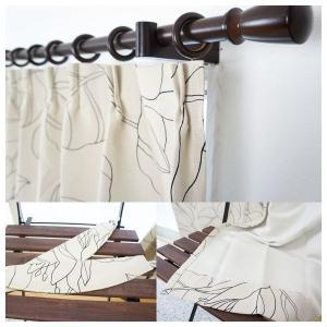 カーテン ドレープカーテン 防炎 遮光2級 北欧 AB529リリアン 既製サイズ巾100×丈135cm 2枚組/巾150×丈178・200cm 1枚|interior-depot|02