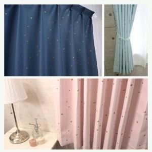 カーテン 遮光カーテン AH556 星と月/ 既製サイズ幅100cm×丈135cm 2枚組/幅150cm×丈178・200cm 1枚|interior-depot|02