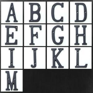 アイアンアルファベット 大 アンティーク 切り...の詳細画像1