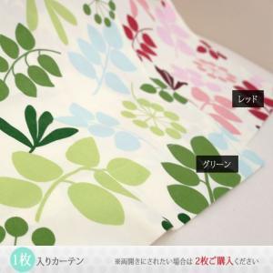 カーテン コットン綿プリントカーテン CH307アセロラ タックカーテン巾100cm×丈135cm 1枚|interior-depot|02