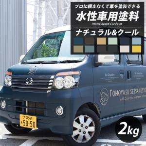 車 塗料 全塗装 自分で DIY ペンキ カーペイント 艶消し マット 水性塗料 Dippin'Paint ナチュラル&クール 2kg 12色 JQ|interior-depot