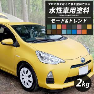 車 塗料 全塗装 自分で DIY ペンキ カーペイント 艶消し マット 水性塗料 Dippin'Paint モード&トレンド 2kg 17色 JQ|interior-depot