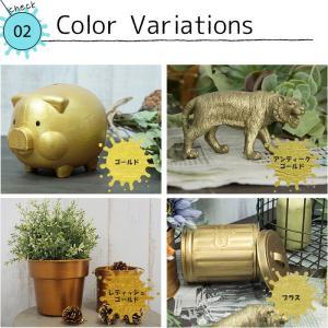 ペンキ 水性塗料 アクリル塗料 ゴールド 1kg 全4色|interior-depot|03