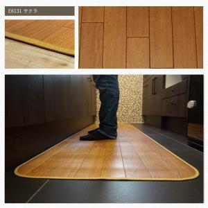 クッションフロア キッチンマット 木目柄 サクラ 幅60cm×長さ90・100cm JQ|interior-depot|02