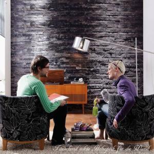 おしゃれな輸入壁紙 クロス 黒が印象的な白樺 368cm×254cm ドイツ製壁紙 粉のり付属/8-700 Birkenrinde|interior-depot