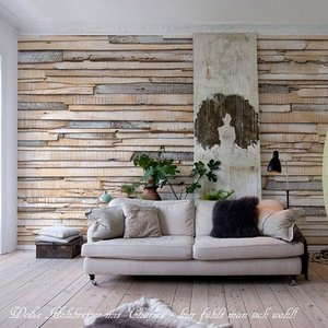 おしゃれな輸入壁紙 クロス 木目調  北欧 368cm×254cm ドイツ製壁紙/8-920 Whitewashed Wood|interior-depot