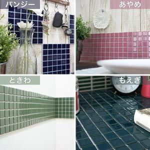 インテリアモザイクタイルシール 壁 デコレ カプリ 1枚/北欧 カフェ タイル キッチン シート DIY|interior-depot|02