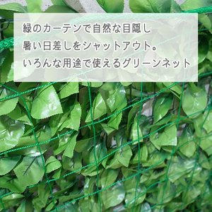 NET29 園芸  緑のカーテン グリーン バレーボールネット 巾30〜100cm 丈101〜200cm|interior-depot