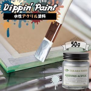 ペンキ 水性塗料 アクリル塗料 シルバー50g interior-depot