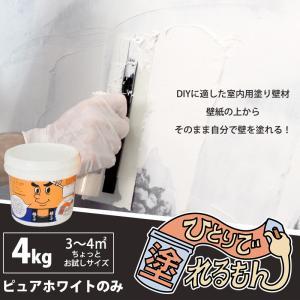 室内用塗り壁材 ひとりで塗れるもん 4kg|interior-depot
