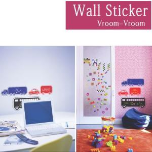 ウォールステッカー チョークボード 黒板シート/020 Vroom Vroom 送料無料|interior-depot
