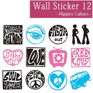 ウォールステッカー 激安 お洒落 deco 053 Stikkies Hippies Culture セール interior-depot